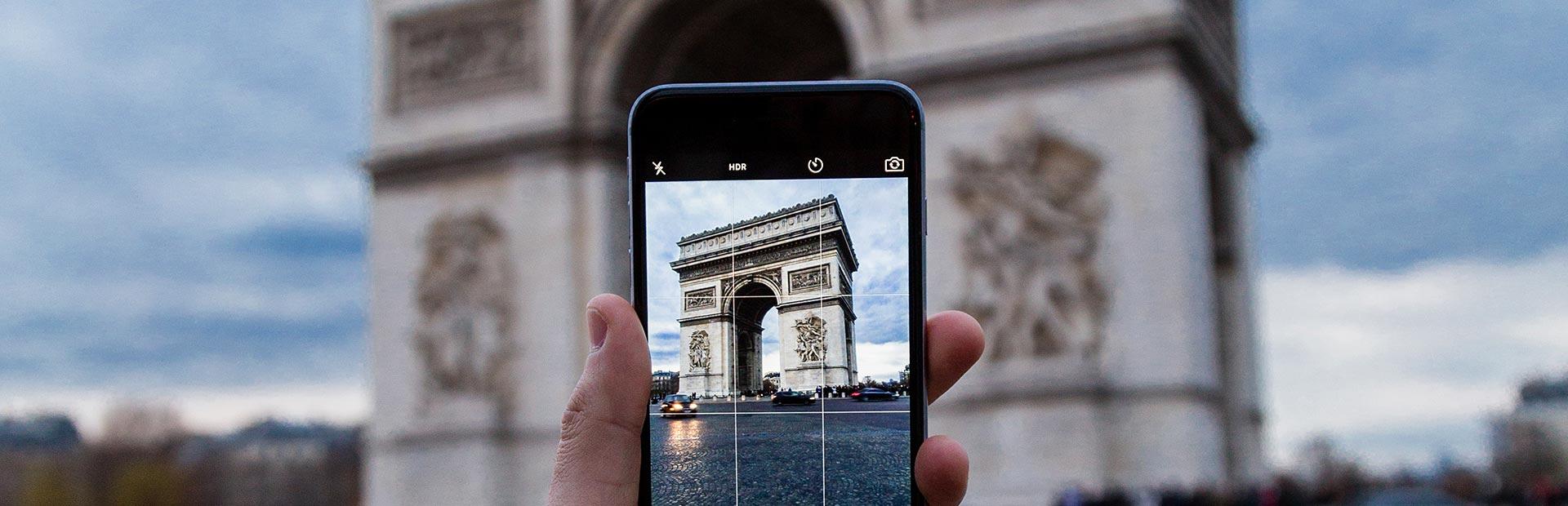 Arc du Triumphe on mobile