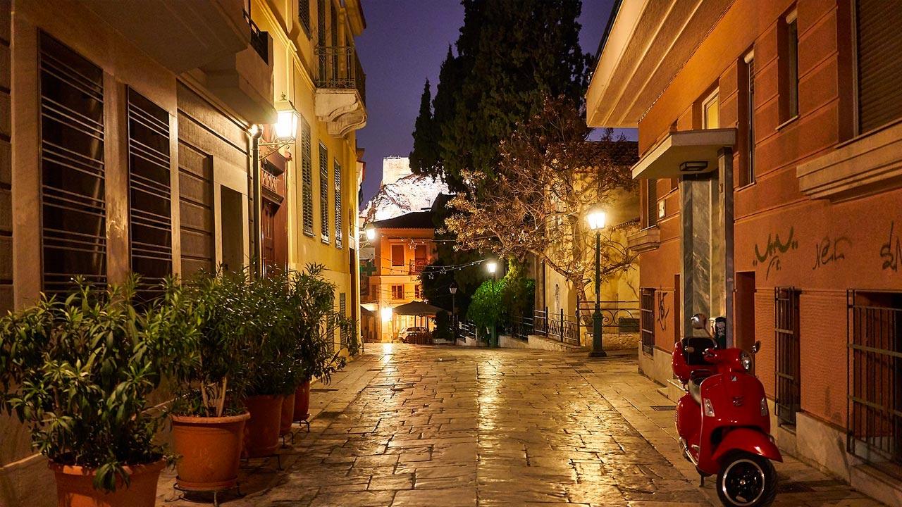 Street in Plaka, Athens, Greece
